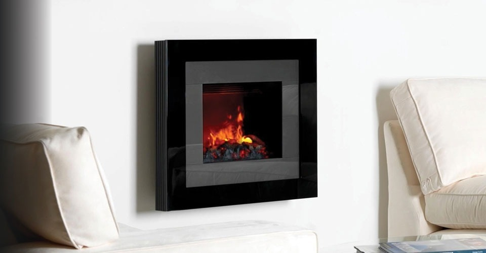 Wall hung smoke effect electric fires