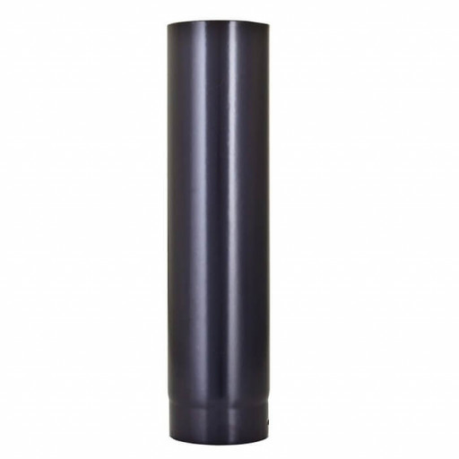 "Vitreous enamel flue pipe Matt Black 150mm (6"")"