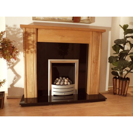 Mote Solid Oak fireplace & black granite set