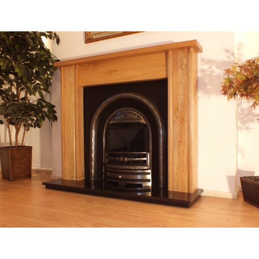 Mote Solid Oak fireplace mantel with Casting #FPW