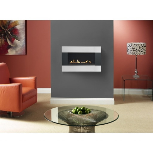Burley Latitude Contrast wall hung flueless gas fire #FPW