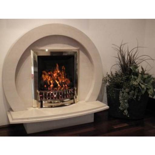 Cameo Fuentes Marble  fireplace