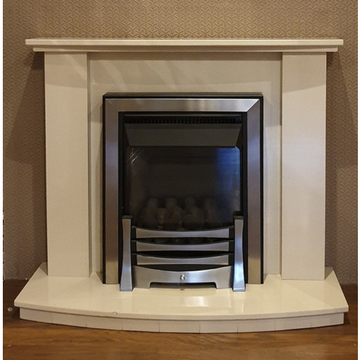 """Austin 40"""" marble fireplace"""