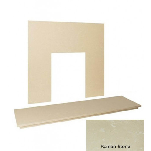 "48"" Marble hearth & back panel set - Roman Stone"