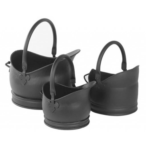 Cathedral coal bucket set - Black