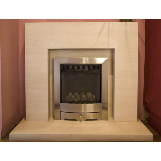 Small Cube - Limestone  fireplace #FPW