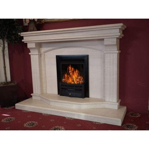 Tiree 60 limestone  fireplace