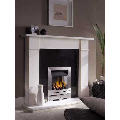 EKO3030 gas fire in Brushed Stainless #FPW