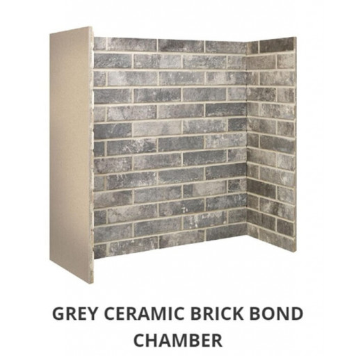 Grey Ceramic Brick Bond chamber #FPW