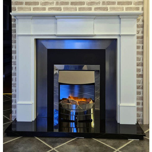 Harrogate fireplace with cast inset #FPW