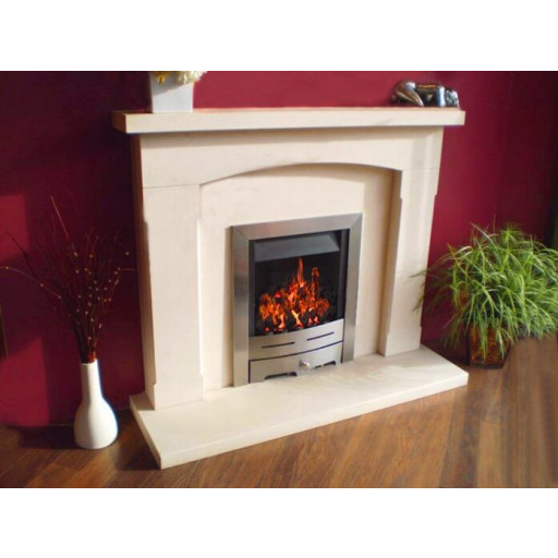 Orbe limestone fireplace & fire package
