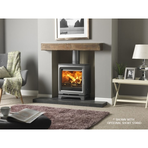 PureVision PV5W MK2 Active baffle Wide HD high definition multifuel stove #FPW