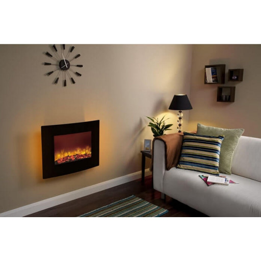Quattro wall hung LED electric fire