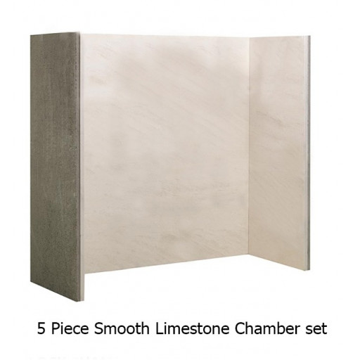 Natural Limestone Smooth chamber (5 piece ) #FPW