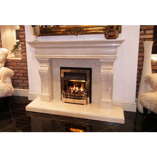 Bellageo Sofital Natural Creme Marble Fireplace