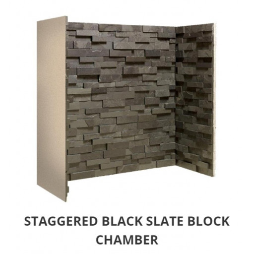 Staggered Black Slate Block chamber  #FPW