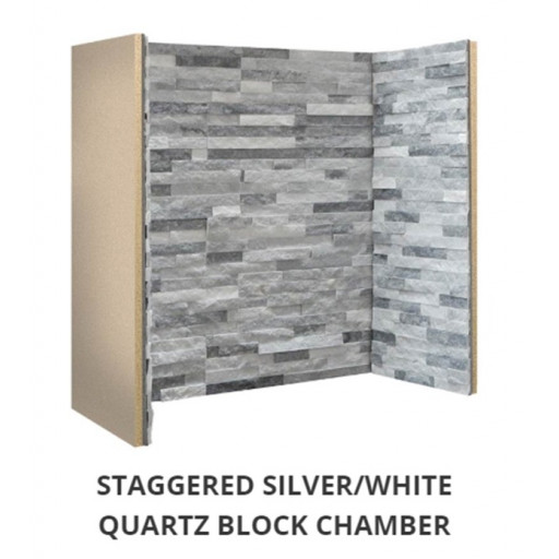 Staggered Silver Grey / White Slate Block chamber  #FPW