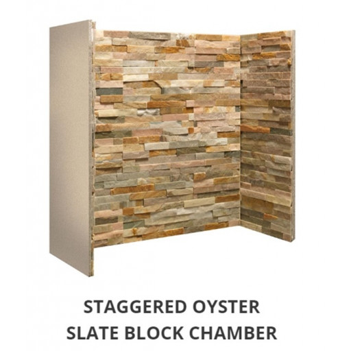 Staggered Oyster Slate Block chamber  #FPW