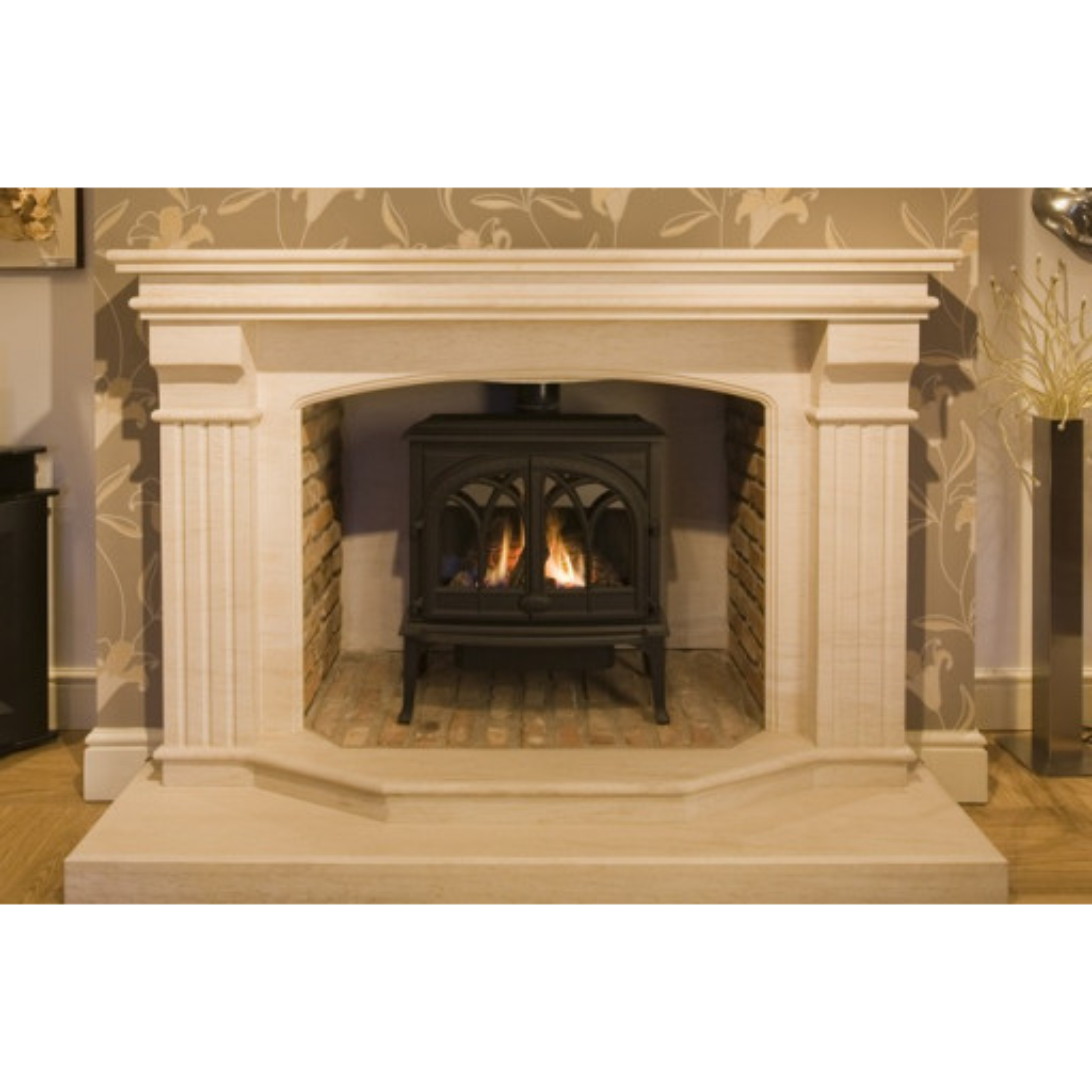 Tiree 74 limestone  fireplace #FPW