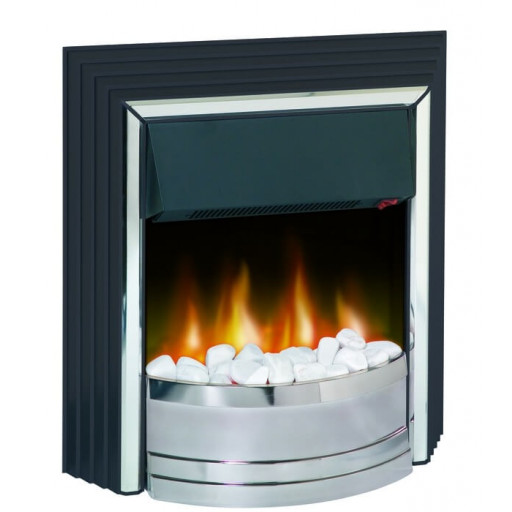 Chatham electric fire - Chrome/Black