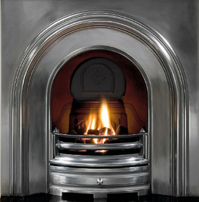 crown full polished cast iron fireplace insert