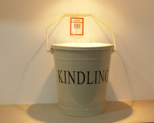 Cream Enamel Kindling Bucket (Accesories)