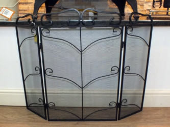 Fiona 3 Section Black Firescreen
