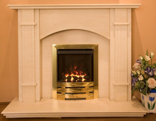 Madison Limestone  fireplace