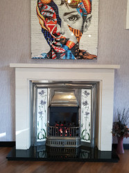 SOVEREIGN CAST LIMESTONE FIREPLACE