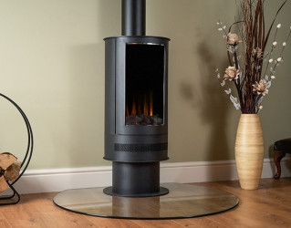 Ashurst Barrel LED electric stove