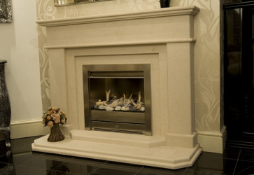 Algar limestone  fireplace