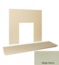 "54"" Marble hearth & back panel set - Beige Stone Marble"