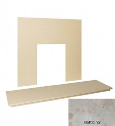 "48"" Marble hearth & back panel set - Botticino Cream"
