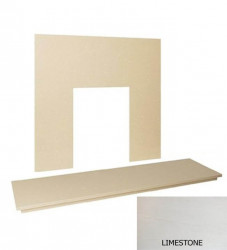 "48"" Limestone hearth & back panel set - Natural Limestone"