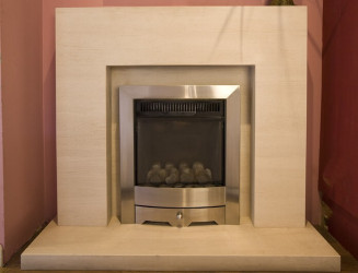 Small Cube - Limestone  fireplace