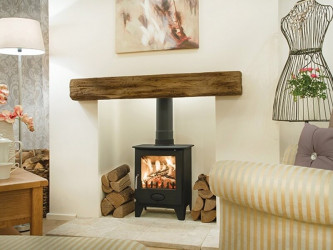Clovelly Oak Effect Fireplace Beam