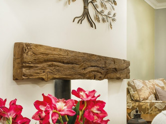 Dartmoor Oak Effect Fireplace Beam