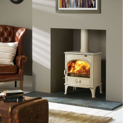 Dovre 425 Ivory White enamel wood burning / multifuel stove