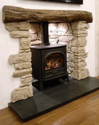 Downham fireplace, beam & chamber