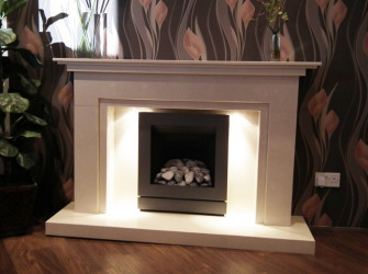 Winlok Marble fireplace with lights