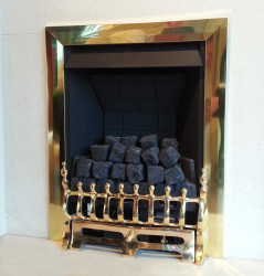 Eko 3010 slim line gas fire - Brass
