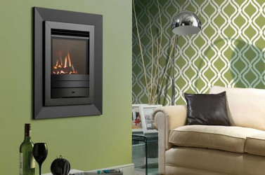Legend Evora balance flue hole in wall gas fire