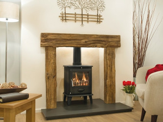 Exmoor Oak Effect Fireplace Beam
