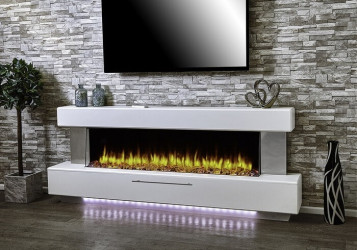 Luminess Electric Fireplace Suite