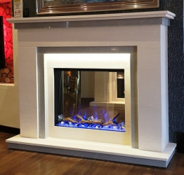 Manhattan Electric fireplace suite