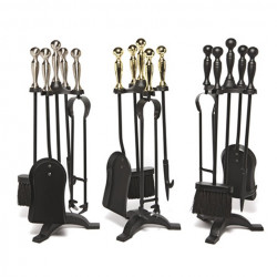 Manor Black/Brass companion set