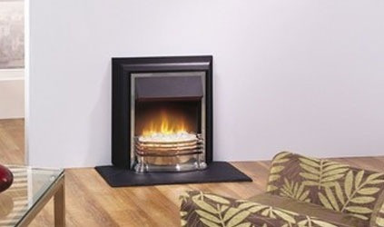 Matlock electric fire - Chrome/Black