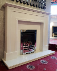 Minogue marble fireplace