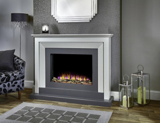 Palermo Electric Fireplace Suite