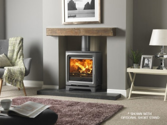 PureVision PV5W MK2 Active baffle Wide HD high definition multifuel stove